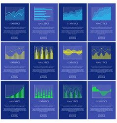 analytics and statistics chart vector image