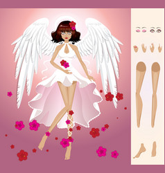 Angel of summer vector