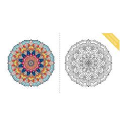 antistress coloring page mandala first vector image