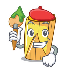 Artist homemade wrapped tamales isolated on mascot vector