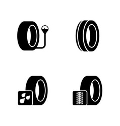 Auto service shop wheels and tires simple related vector