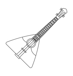 Balalaika icon in outline style isolated on white vector