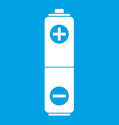 Battery icon white vector