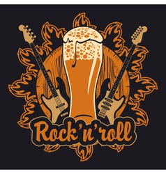 Beer and rock and roll vector image