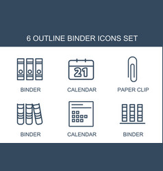 binder icons vector image