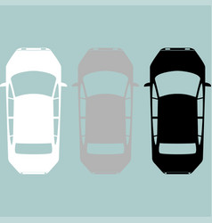 black grey white car icon vector image