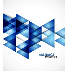 Blue business triangles vector image