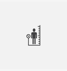 Body mass index base icon simple sign vector