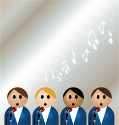 Boy band vector