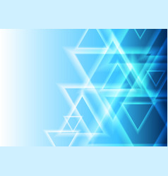 bright blue abstract triangles geometric tech vector image