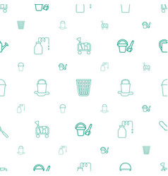 Bucket icons pattern seamless white background vector