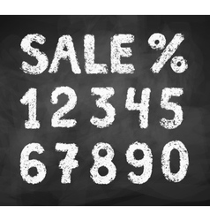 Chalk drawn numbers vector image