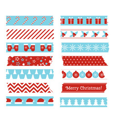 christmas decorative adhesive type vector image