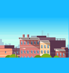 city building houses view cityscape background vector image