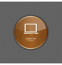 Computer wood application icons vector image