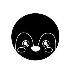 cute animal penguin head baby vector image
