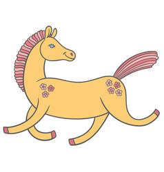 Cute cartoon horse vector