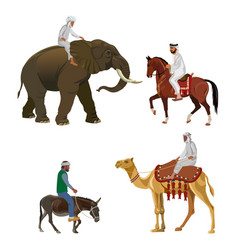 different riders vector image