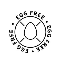 egg free simple icon modern design element on vector image