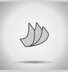 Elastic flexible material icon vector