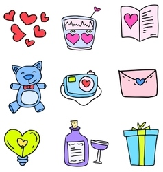 Element love doodles vector