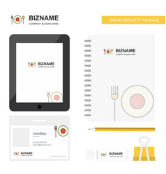 food business logo tab app diary pvc employee vector image