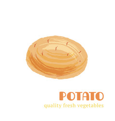 fresh potato isolated on white background vector image