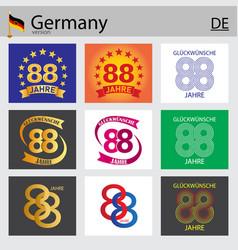 German set number 88 templates vector