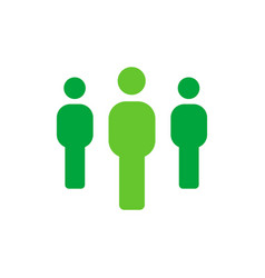 group of people - employee or teamwork icon - flat vector image