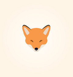 Head of a fox vector