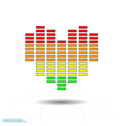 Heart icon eq equalizer scale heart love vector