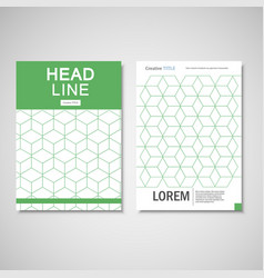 Hexagon pattern brochure set vector