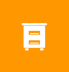 Hive apiculture icon apiary vector
