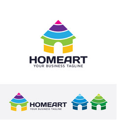 Home art logo design vector
