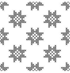Imitation cross stitch seamless geometric vector