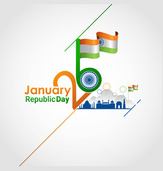 indian republic day 26 january vector image