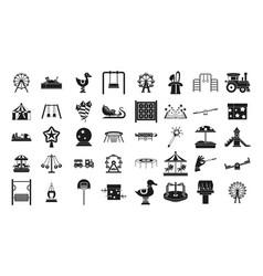 kid amusement icon set simple style vector image