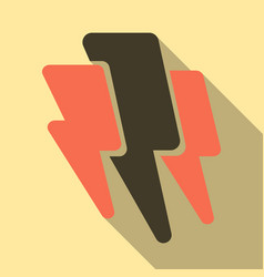 Lightning flash bolt or thunderbolt electric vector