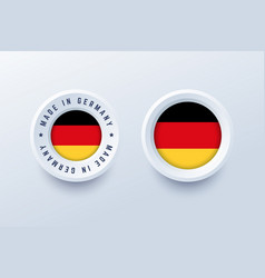 made in germany round label badge button vector image