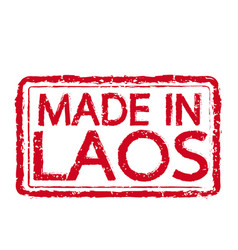 made in laos stamp text vector image