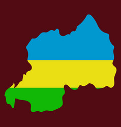 map-rwanda country vector image