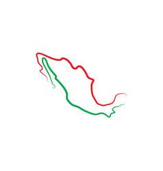 Mexico map icon logo symbol element vector