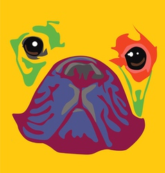 nice color bulldog art print vector image