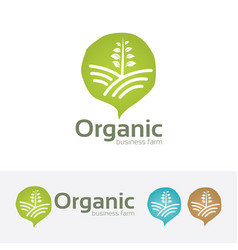 Organic farm logo design vector