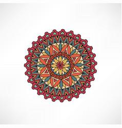 Oriental floral decorative element geometric vector