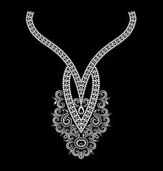 ornamental black and white pendant vector image