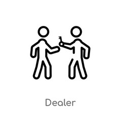 outline dealer icon isolated black simple line vector image
