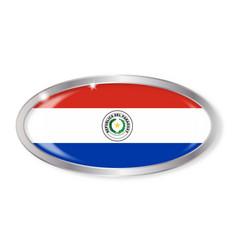 Paraguay flag oval button vector