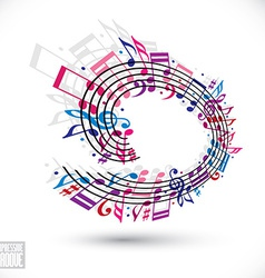 Pink and violet music background with clef and vector