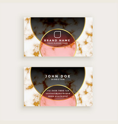 premium marble style business card vector image